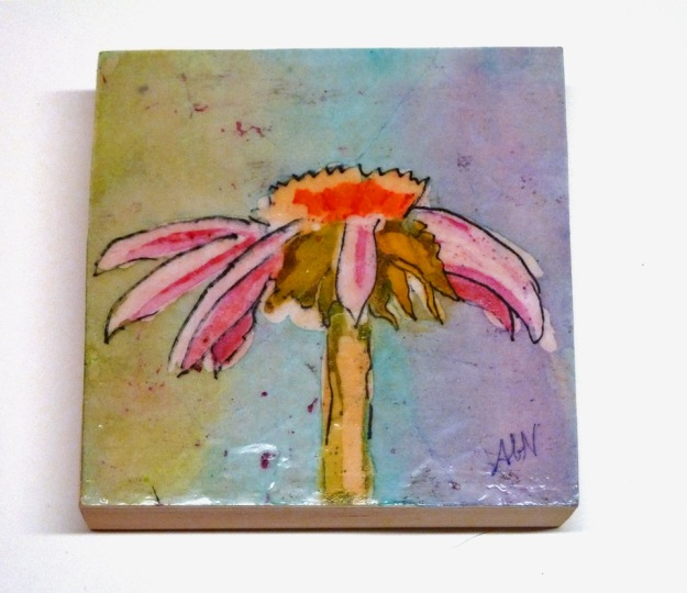 watercolor batik painting